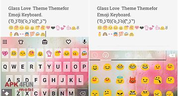 Free glass cute keyboard theme