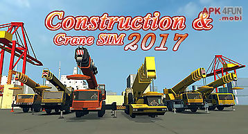 Construction and crane simulator..