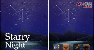 Starry night go launcher theme