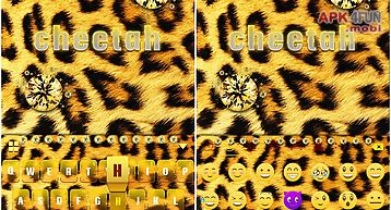 Cheetah kika keyboard theme