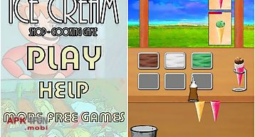 Ice cream shop cooking game