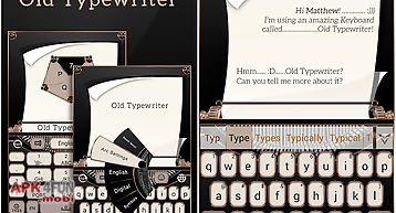 Old typewriter keyboard theme