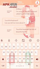 Touchpal forever love theme for Android free download from