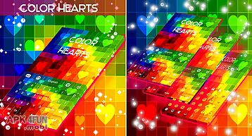 Color hearts keyboard