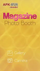 magazine photo booth