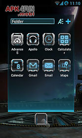 next launcher theme robotect