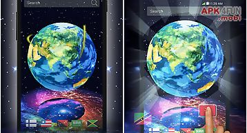 earth in space 3d theme free download for android