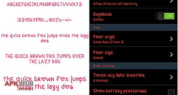 Color fonts for flipfont #2