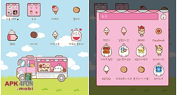 Molang loves icecream dodol