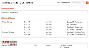 Courier tracking india