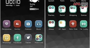 Grey hola launcher theme