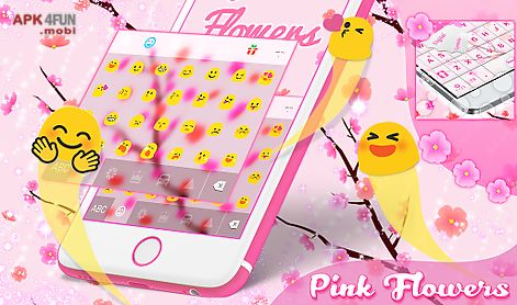 pink flowers for go keyboard
