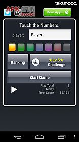 touch the numbers for android