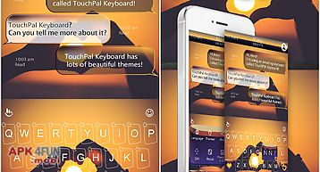 Touchpal forever love theme for Android free download from Apk 4Free