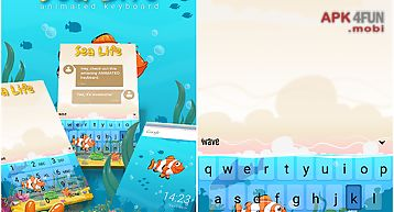 Sea life animated keyboard