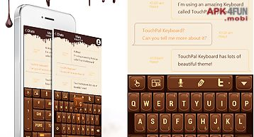 Touchpal love chocolate theme