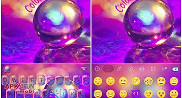 Color drops theme for keyboard