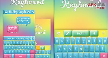 Bubbly go keyboard theme