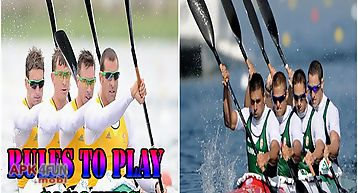 Rules to play canoeing
