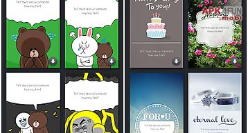 Line greeting card