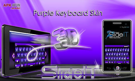 slideit purple 3d skin