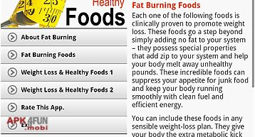 Weight loss & healthy foods