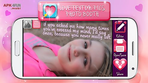 love text on pics photo booth