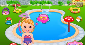 Outside pool baby care