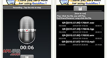 Recorder(mp3, wav) - quickrec