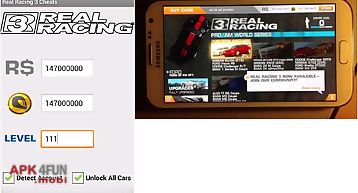 Real racing 3 cheats unofficial