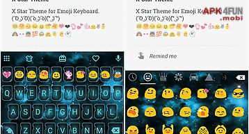 X star emoji keyboard theme