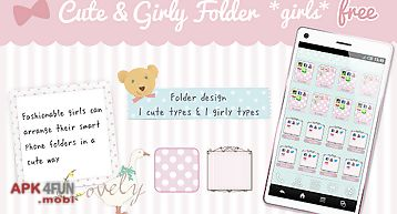 Cute&girly folder *girls* free