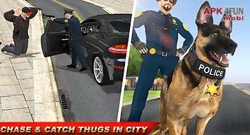 Police dog criminals mission