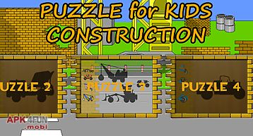 Kids puzzle - construction