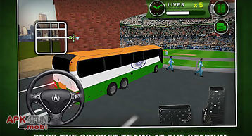 Cricket cup bus