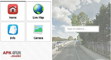 Live map street map view