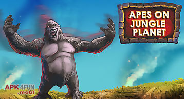 Apes on jungle planet