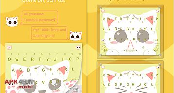 Touchpal bright yogurt theme