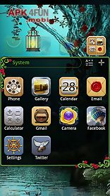 wonderland go launcher theme