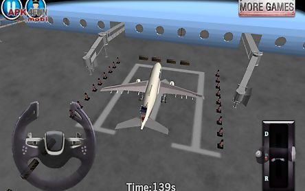 airplane parking - 3d airport