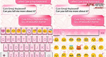 Retro pink emoji keyboard skin