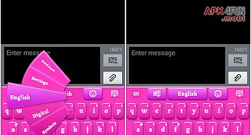 Pink keyboard for smartphone