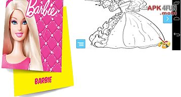 Beauty barbie coloring pages