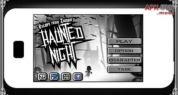 Haunted night - running game