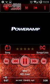 poweramp skin red metal