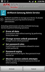 Airwatch samsung service for Android free download from Apk