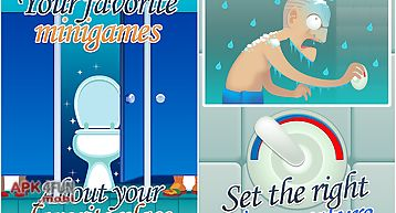 Toilet time - a bathroom game