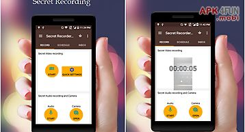 Secret recorder video hd