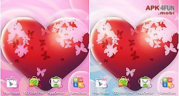 Theme hearts for go launcher