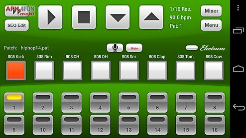 Electrum drum machine demo for Android free download from